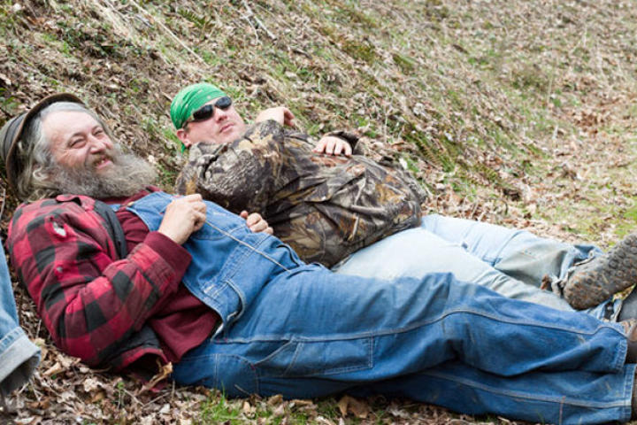 Huckleberry likes his naps. He and Buck take advantage of some down time.