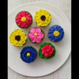 Flower power: Created for Mother's Day, Carlo's beautiful floral cupca