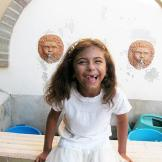 Buddy's daughter Sofia minus her two front teeth in Sicily.