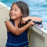 Hannah tries her hand at deep-sea fishing.