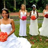 Brides (left to right): Alana, Kati, Tara, and Editza.