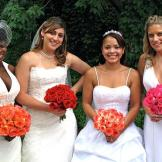 Brides (left to right): Tara, Editza, Alana, and Kati.