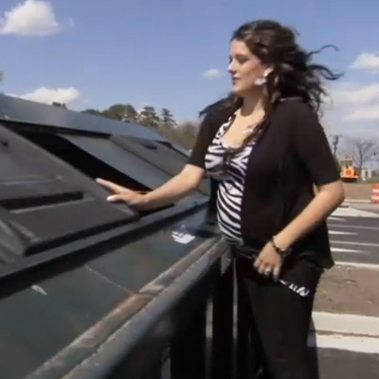 Pregnant and Dumpster Diving