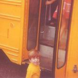 Bill's first day at kindergarten.