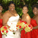 Latrina and her bridesmaids.