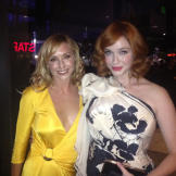 Kari with Mad Men's Christina Hendricks