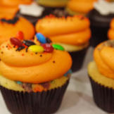 These trick-or-treat candy bar cupcakes feature 12 different types of