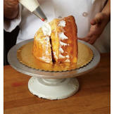 Use white buttercream to seal the turkey structure and to cover any gaps. This creates a smooth working surface for you.