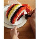 When you're done, the back of your turkey should have a colorful tail of plumage!