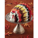 This fun and elegant cake can be the centerpiece of your Thanksgiving table!