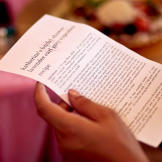 Each guest at Katherine's wedding shower received a recipe for the spe