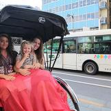 No boys allowed on this rickshaw!