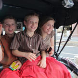 Rickshaws are the way to travel in style for the Duggars in Japan.