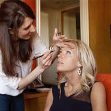 Deanna, makeup artist and good friend of Kate's, helps her get glam fo