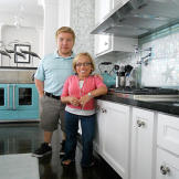 Bill and Jen in their new kitchen!