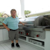 Bill and the Grill, which has also been customized so he can easily use it.