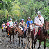 A trail ride gives the Roloffs a new perspective of the jungle.