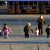 The Gosselin kids run up the Rocky steps at the Philadelphia Museum of