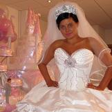 Bride featured in My Big Fat Gypsy Wedding.