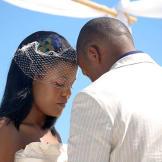 Regina and her groom exchange vows.