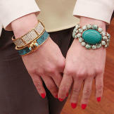 These chic bracelets and bangle amp up every simple, summer style.