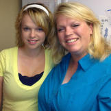 "Janelle Brown from Sister Wives with her daughter Maddie. Maddie describes Janelle ""as one of my best friends."""
