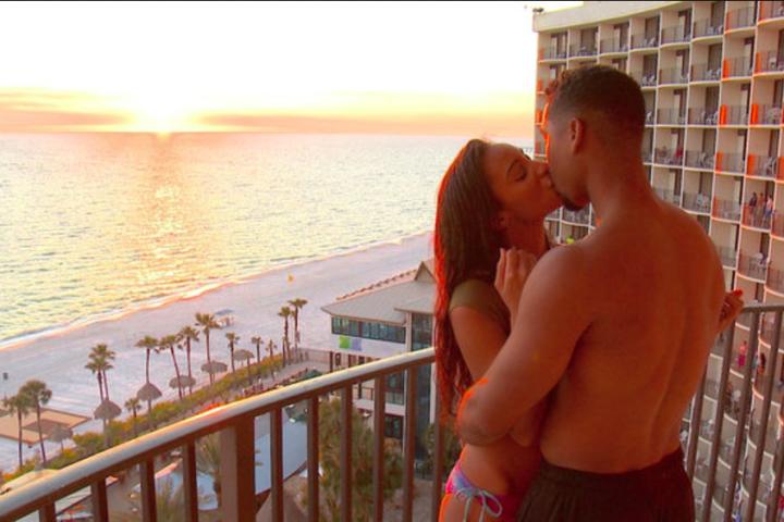 Chantel and Pedro share a kiss