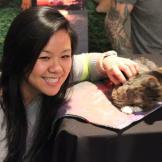 Lil BUB meets her adoring fans.