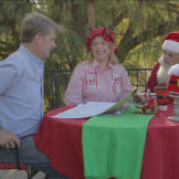"Pete meets with ""Santa"" and ""Mrs. Claus"" to discus"