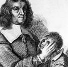 """Yeah, it's pretty creepy. This 18th-century illustration of an Irish healer shows """"touch healing"""" or """"contact therapy."""" There are endless variations on this type of healing, where the afflicted person is cured by touching, stroking, laying-on of hands, or manipulation of his or her """"energy field,"""" which usually involves near-touching. Though ritualized physical contact of this kind may have an emotional, psychological or spiritual benefit, medical science has not shown these forms of therapy to be helpful in treating diseases or injuries. Next up: Do you know where the word """"mesmerize"""" comes from?"""