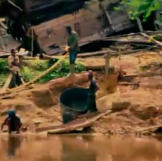 As the crew head upriver they notice the growing number of illegal miners in the area. It's a practice the government is keen to stop to be able to reclaim the land and prevent pollution.