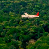 The Hoffman Crew flies over the dense forests to get to Guyana, what c