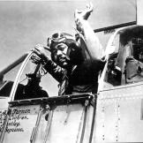 Captain Andrew D. Turner of the 100th Fighter Squadron, 332nd Fighter Group. He took command of the group in July 1944, which was tasked with escorting bombers to Germany and through the Balkans.