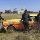 There is just something about the MythBusters and that fence around Alameda Runway ... This is a photo from 2014's
