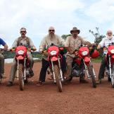 The Hoffman Crew and their new dirt bikes. Makes getting to the claim