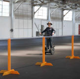 It wouldn't be a MythBusters location shoot without Adam zooming around on his Segway.