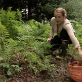 Eve Kilcher takes advantage of what the forest has to offer during the