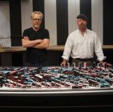 """We won't tell you whether these 200 metronomes gradually synced up when left to their own devices. But we WILL tell you that Adam called this myth """"the BIGGEST FAIL we have EVER ACHIEVED."""""""