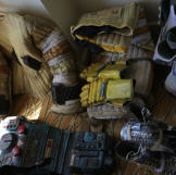 This is what Adam Savage's hotel-room floor looks like during Comic Co
