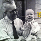 My granddad Joe Savage and me on a porch in West Virginia. --