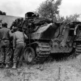 Another destroyed Panzer during the Battle of Normandy, summer of 1944. Watch video of the