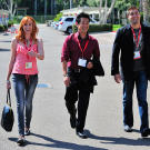 Kari, Grant and Tory make their way to their autograph session during Comic Con 2010. This was Kari's first year joining her MythBusters colleagues at Comic Con.