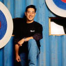 """An early photo of Grant Imahara, whose resume includes """"R2-D2 operator"""" at Industrial Light & Magic."""