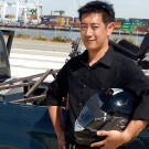 Grant Imahara with another of his remote-control creations.