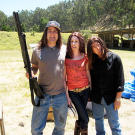 Can a hair weave stop a bullet? Tory Belleci, Kari Byron and Grant Imahara were on the case in 2010.