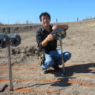 """Grant Imahara sets up for the """"what is bombproof"""" series of tests in 2010."""