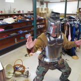 As payment, Turtleman receives an authentic suit of armor.
