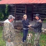 Ernie Brown, Jr., the Turtleman, and Neal James meet Libby, the careta