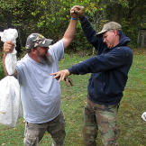 Ernie Brown, Jr., the Turtleman, and Neal James have bagged Boone the