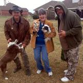 Turtleman, Neal James and homeowner Linda Jangula LOVE their doggy bud
